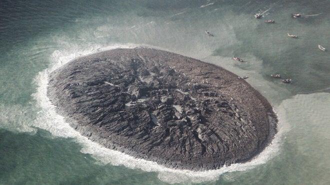 New photos of Pakistan's 'Earthquake Island'