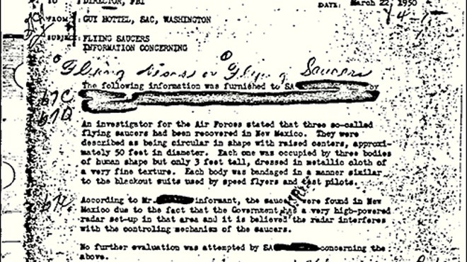 Topping FBI's 'most wanted' list: UFO info