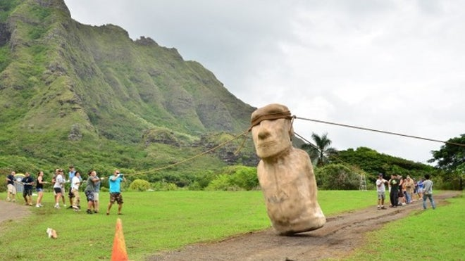 How Easter Island's stone heads 'walked' into place