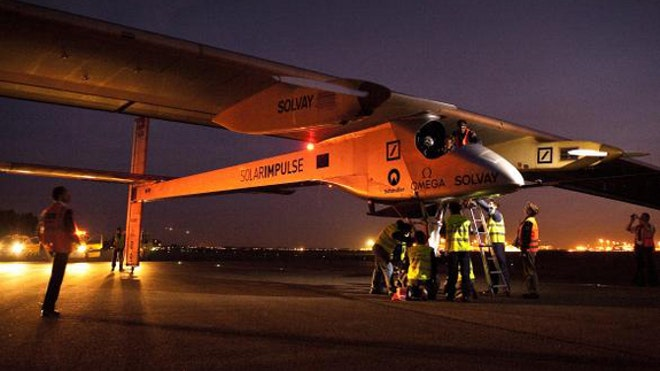 Solar-powered plane to begin historic cross-country flight