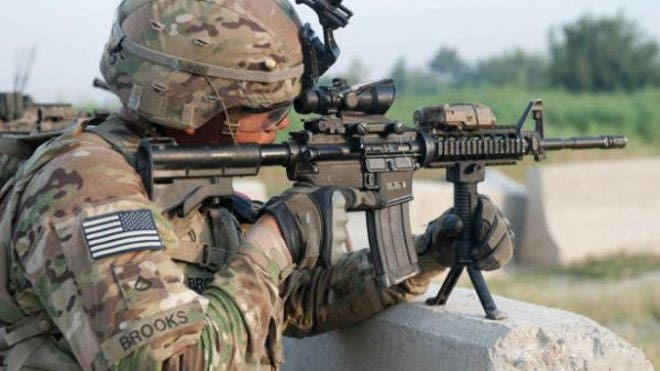 The head of U.S. Army Materiel Command said the service could start issuing its new camouflage pattern as early as .,Gen. Dennis L. Via confirmed that the Army has adopted Scorpion W camouflage, a government-owned pattern that Army camouflage officials have altered to look nearly identical to the MultiCam pattern the service adopted for soldiers deployed to Afghanistan in .