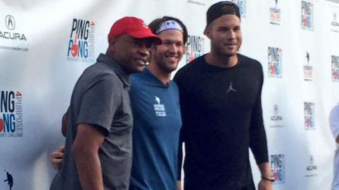 The stars came out to help support Clayton Kershaw's Ping Pong  Purpose at Dodger Stadium.