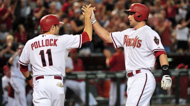 Pinch-hitter Aaron Hill's double produced the go-ahead run in the seventh inning off Oakland ace Sonny Gray, Paul Goldschmidt homered and the Arizona Diamondbacks rallied for a - victory.