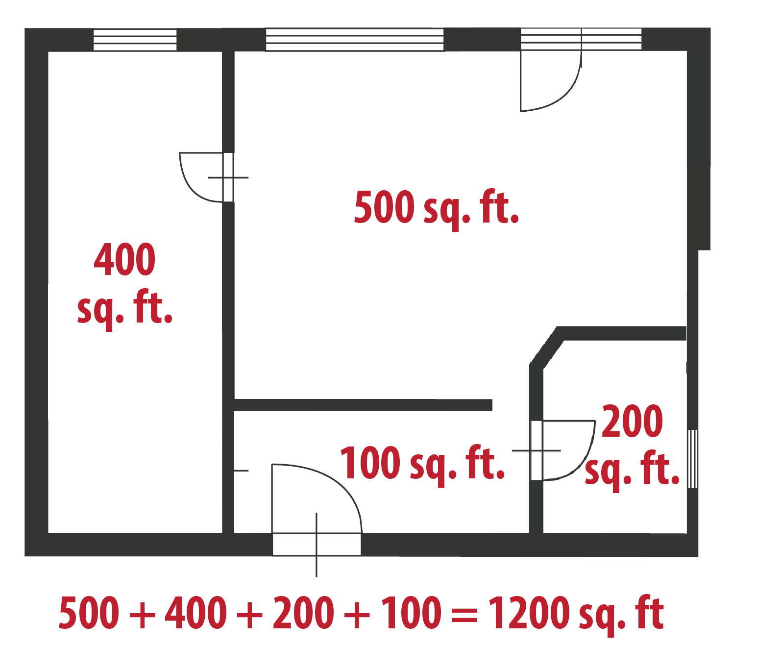 How to calculate square feet even if your home is a for Find sq footage