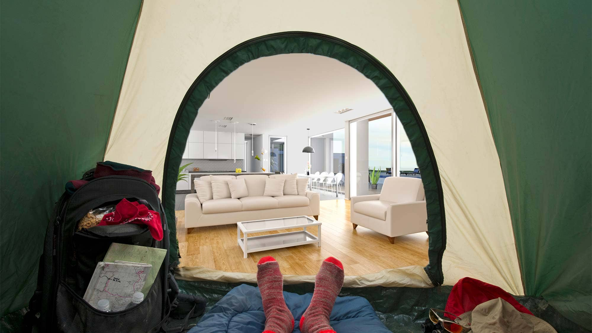 How to stage your home while living in it without losing your mind fox news for How to make a tent in your living room