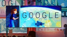 Google has paid tribute to America's first woman in space with a series of five animated Doodles appearing on its website today, May .