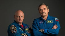 A NASA astronaut is getting ready to be the first American to spend a continuous year in space, and he is excited.