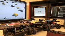 They may look like remote-controlled toy trucks, but a troop of new NASA robots could one day race across distant planets as a sort of space exploration vanguard.