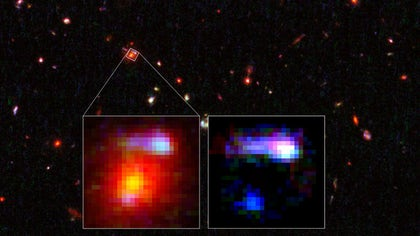 In a surprising discovery, astronomers have found a faraway galaxy that doubles as a cosmic magnifying glass.