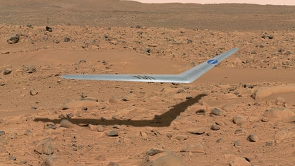 A tiny aircraft could be plying Mars' skies less than a decade from now. 	NASA researchers are developing a glider, called Preliminary Research Aerodynamic Design to Land on Mars (Prandtl-m), for possible inclusion on a Mars