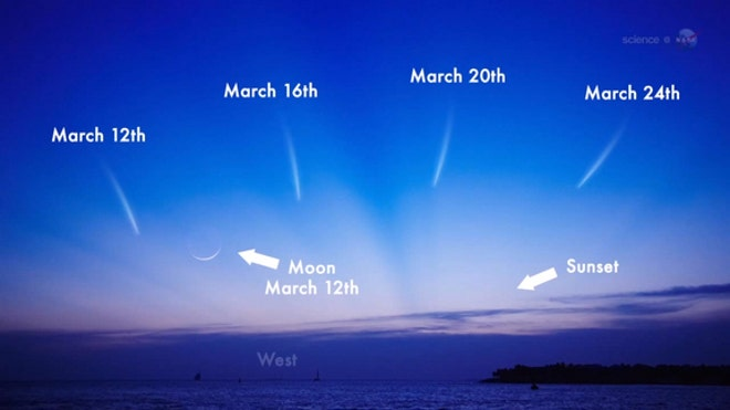 Comet Pan-STARRS at its brightest this weekend