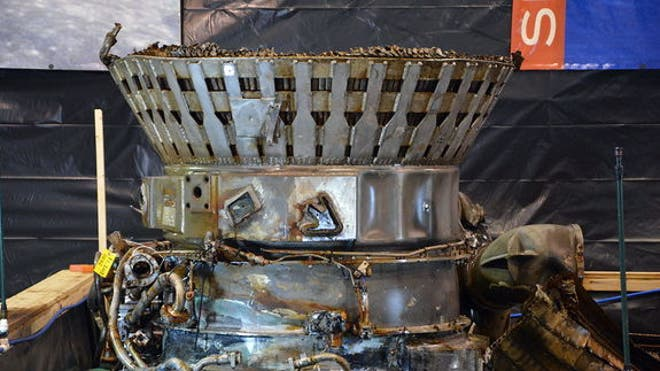 Amazon CEO's Saturn V rocket engines conserved in Kansas