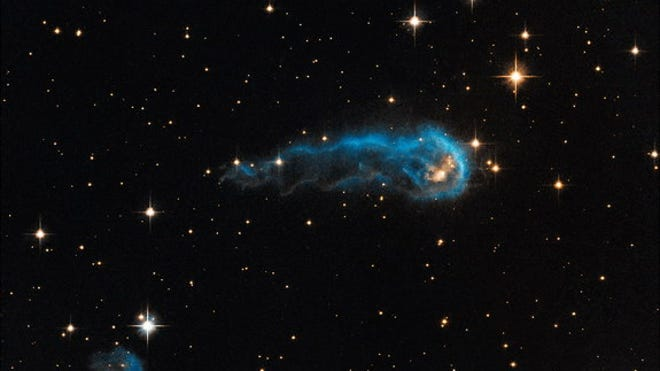 Hubble telescope spots 'cosmic caterpillar' 6 trillion miles long