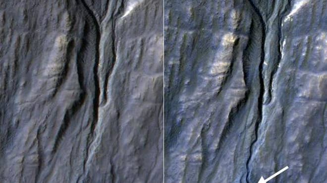 NASA discovers new gully on Mars