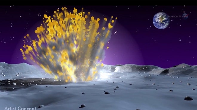 NASA records giant explosion on moon as boulder crashes at 56,000 mph