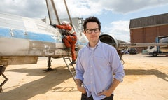 In a new video from the set of Star Wars: Episode VII, director J.J. Abrams showed off a first look at the X-Wing starfighter that will appear in the film.