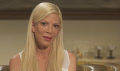 Having chosen to live so completely in the public eye, can Tori Spelling still muster an authentic emotion in front of the cameras, as opposed to looking like she's performing in one of those old TV movies that became her trademark?