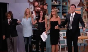 Jennifer Aniston, Courtney Cox and Lisa Kudrow staged a miniature Friends reunion in a sketch for ABCs Jimmy Kimmel Live Wednesday night with the late night host playing Ross (David Schwimmer, Matthew Perry and Matt LeBlanc did not appear).