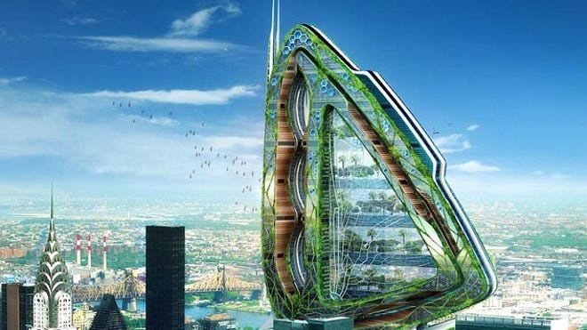 The Dragonfly: A high rise farm of the future