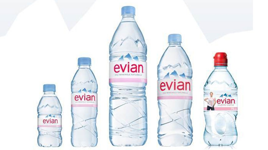 1 liter evian bottle - 1 1