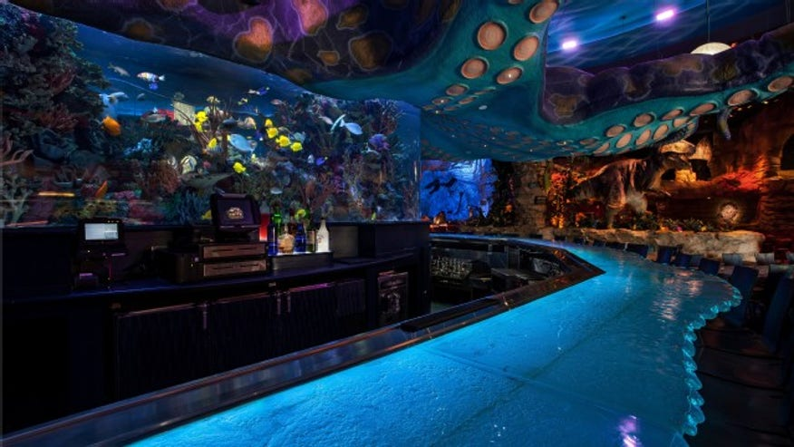 Giant Fish Tank Bursts Open At Downtown Disney Restaurant