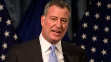 "New York Mayor Bill de Blasio's habit of lecturing and his belief that talking is the same as doing make him a twin of President Obama. Think of them as ""Oblasio."""