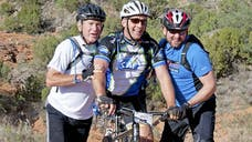 It is the fifth annual WK Warrior Mountain Bike Ride on President George W. Bush's Prairie Chapel Ranch in Crawford, Texas. The former president and commander in chief still leads by example. H