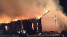 A fire that destroyed a black church that