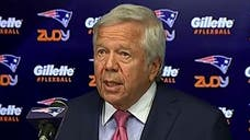 A visibly angry Robert Kraft, owner of the Super Bowl champion New England Patriots, ripped th