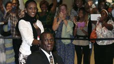 A Sudanese woman who faced the death penalty for refusing to recant her Christian faith has arrived in New Hampshire, ready to begin a new life.