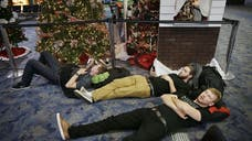 A band of high winds, thunderstorms and soaking rains from holiday storms are poised to derail travel plans for millions of Americans ready to celebrate Christmas.
