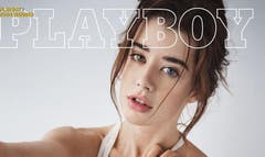 The first non-nude Playboy magazine cover, and a few more inside pics, were released on social media Thursday.