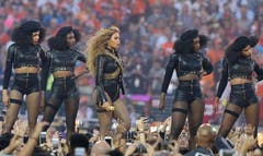 When Beyoncé took to the field during the Super Bowl  halftime show, she apparently had a political message to convey.