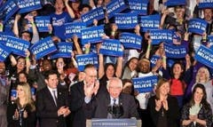 """""""The View"""" hosts had only love for presidential candidate Bernie Sanders, who appeared on the show Wednesday morning after winning the New Hampshire primary on Tuesday night."""