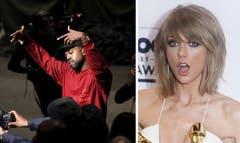 Taylor Swift is not amused with Kanye Wests famous new lyrics.
