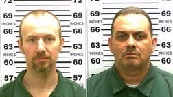 The search for two convicted murderers who broke out of an upstate New York maximum security prison more than two weeks ago focused on two separate locations hundreds of miles apart Sunday.
