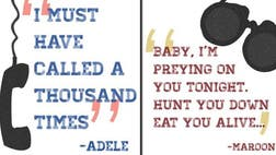 """The University of Oklahoma's Gender+Equality Center is accusing Adele's song """"Hello"""" of """"normalizing sexual harassment"""" in a series of posters it distributed on campus, citing the hit single's verse: """"I must have called a thousand times."""""""