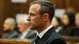 The prosecutor at the murder trial of Oscar Pistorius, a double-amputee Olympian, cross-examined one of the defense's forensic experts Thursday after the judge overseeing the case warned spectators watching the televised proceedings in an adjacent room for their unruly behavior.