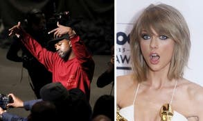 Taylor Swift is not amused with Kanye Wests famous new lyrics.