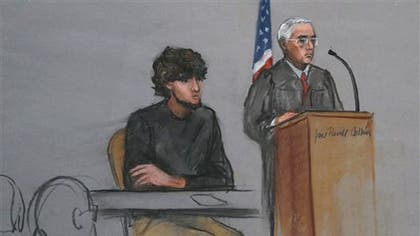 Victims of the Boston Marathon bombing described scenes of abject horror in a Boston courtroom Wednesday, including a young boy bleeding to death, bones thrown onto the sidewalk and bodies hurled through the air on the first day of testimony in the trail of Dzhokhar Tsarnaev.