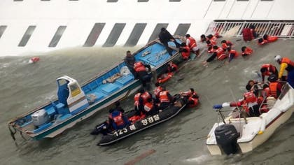South Korean officials said Wednesday that that  people were still missing several hours after a passenger ferry sank off that country's southern coast, leaving at least two dead and seven injured.