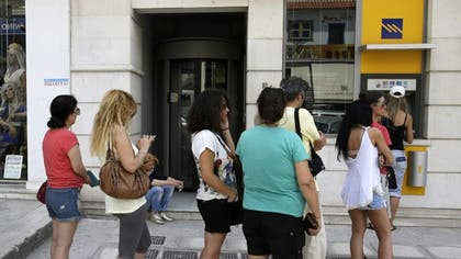 Long lines at ATMs and bank branches in Greece made investors across the globe shaky Monday, as the nation's financial crisis caused international markets to plunge.