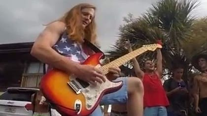 The Florida college student who was cited and nearly arrested for celebrating July  with a searing guitar rendition of The Star Spangled Banner at a block party is getting the last laugh.