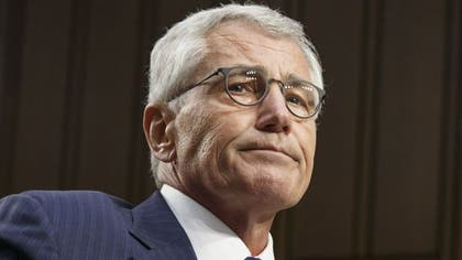 Poor Defense Secretary Hagel. Hired and fired in just one term.