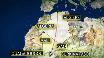 A French Ministry of Defense official tells Fox News that the Air Algerie jet carrying  people that vanished from radar shortly after takeoff late Wednesday night has crashed in Mali, and that two French fighter jets have located the wreckage.