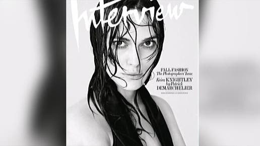 Keira Knightley has gone topless for a very revealing new magazine shoot.