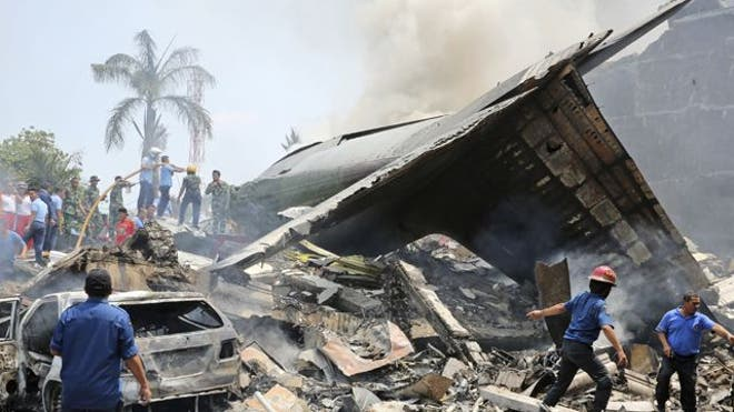 An Indonesian police official says more than  bodies have been recovered from the crash of a military plane in Medan.