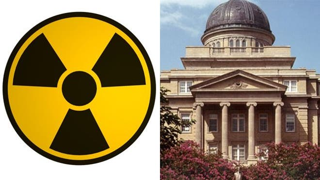 A shipment of radioactive material weighing  pounds that was sent to an on-campus office at Texas AM University is missing, KBTX reported.