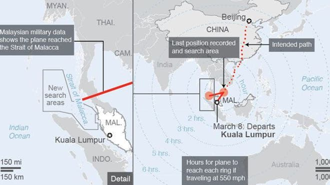 More than four days after a Malaysian jetliner went missing on route to Beijing, authorities acknowledged Wednesday they didn't