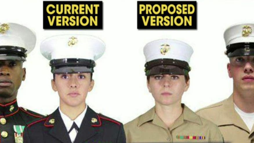 retired marine says proposed unisex uniform change is